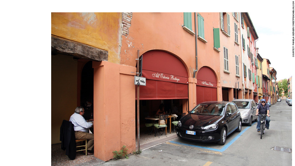 The osteria is about a 20-minute walk from downtown Bologna on a quiet unassuming street.
