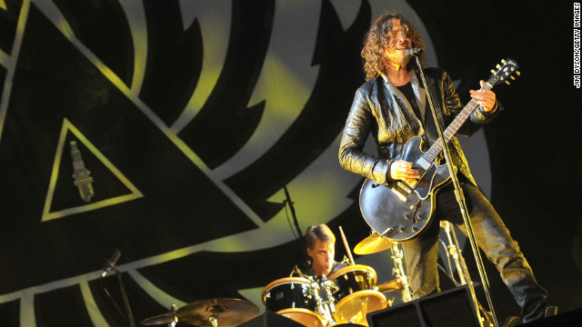 Chris Cornell of Soundgarden performs at London's Hyde Park in July.