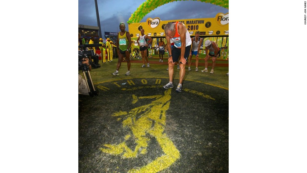 Runner's World editor Bart Yasso crossed the finish line exhausted after the 2010 Comrades Marathon in South Africa. <br />