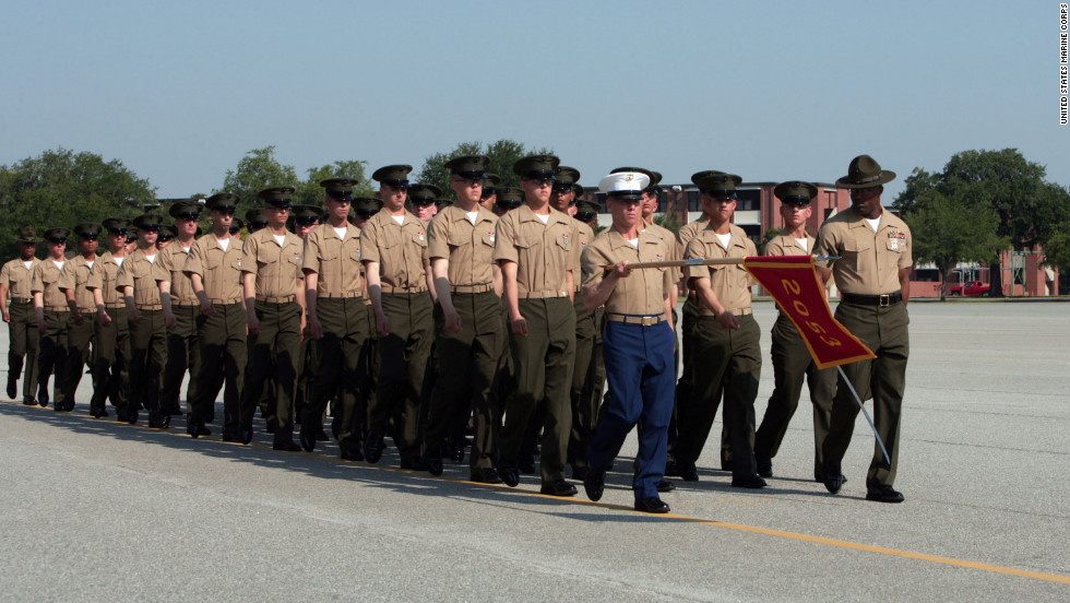 "Since it opened as a training facility 1915, the <a href=""https://www.mcrdpi.usmc.mil/SitePages/Home.aspx"" target=""_blank"">U.S. Marine Depot at Parris Island, South Carolina, </a>has become legendary through movies, songs and novels. It has also produced hundreds of thousands of fighting men and women, some seen here during a recent graduation ceremony."