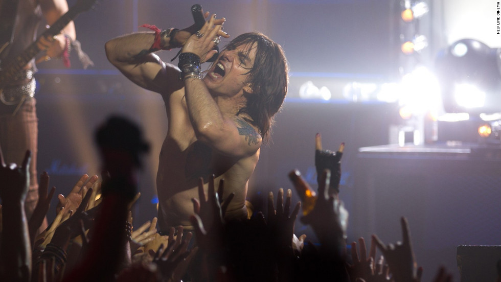 """Tom Cruise plays aging rocker Stacee Jaxx in """"Rock of Ages,"""" the 2012 film based on the musical of the same name."""