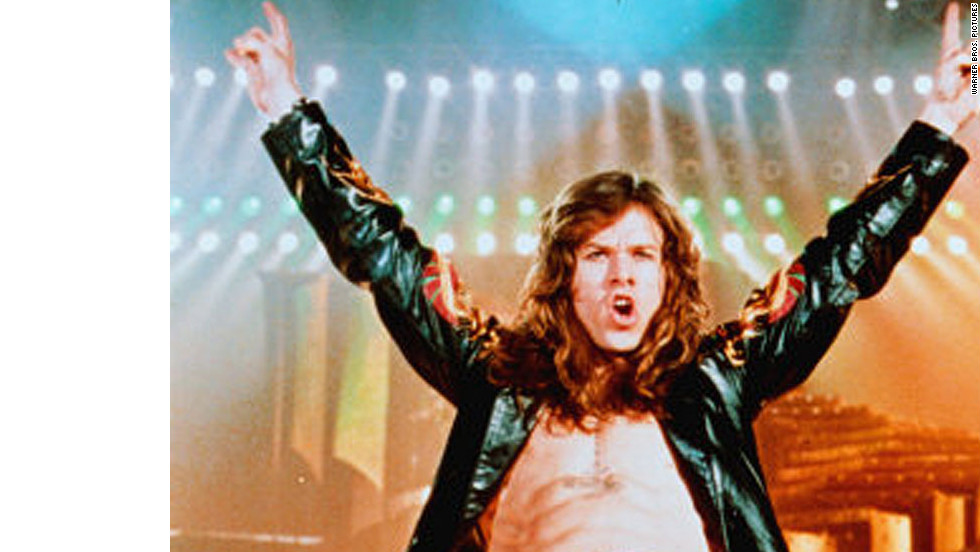 """""""Rock Star"""" stars Mark Wahlberg as a tribute band singer-turned-lead singer of his favorite band, Steel Dragon. Jennifer Aniston plays the rocker's girlfriend in the 2001 film."""