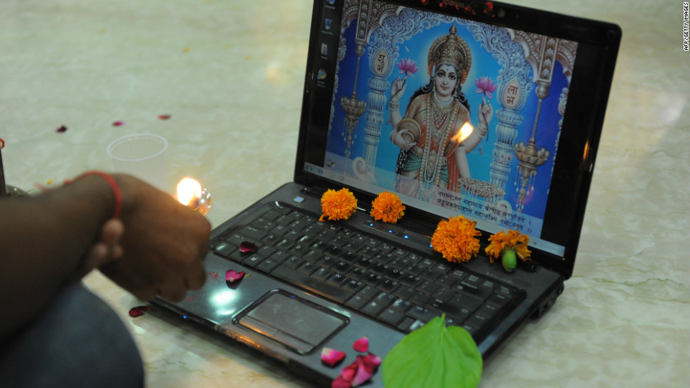 "Diwali marks the start of the new Hindu financial year. During this time many businesses open new accounts books and on the third day of the festival businessmen in some states worship their accounts books and work laptops. This ritual is called  ""Chopda Pujan"", and blesssings are sought from Hindu deities Lakshmi and Ganesha."