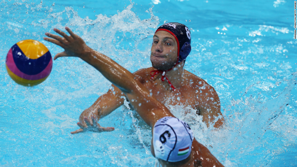 Azevedo, shown during the 2012 Olympic Games, travels all over the world as captain of Team USA.