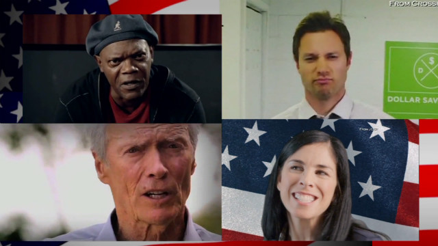 Screen grabs from super PAC ads for the 2012 presidential election.