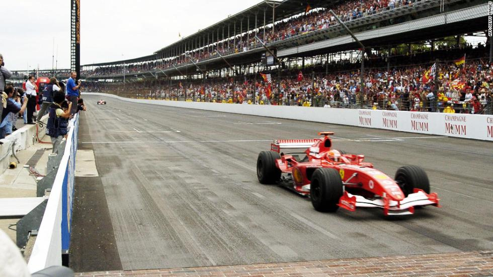 The US Grand Prix at Indianapolis in 2005 was won by Michael Schumacher. But the race is remembered less for his victory, than the number of starters -- just six cars, rather than the normal 20.