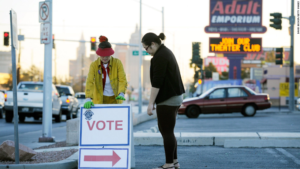"""No doubt, many voters will also cast their ballot with the """"adult emporium"""" down the road."""