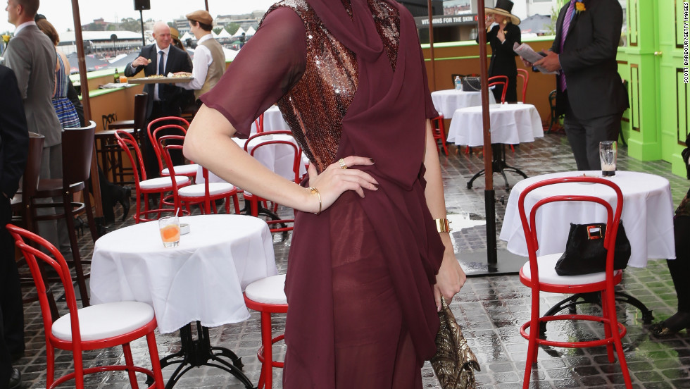 Mischa Barton attends the Melbourne Cup in Australia.