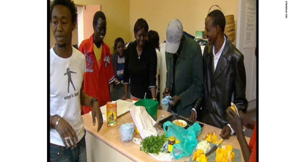 Kuol held cookery classes in a church hall in Adelaide for young Sudanese refugees.