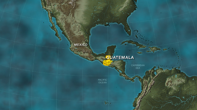 Guatemala locator map