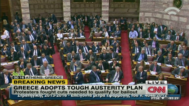 Greece adopts tough austerity plan