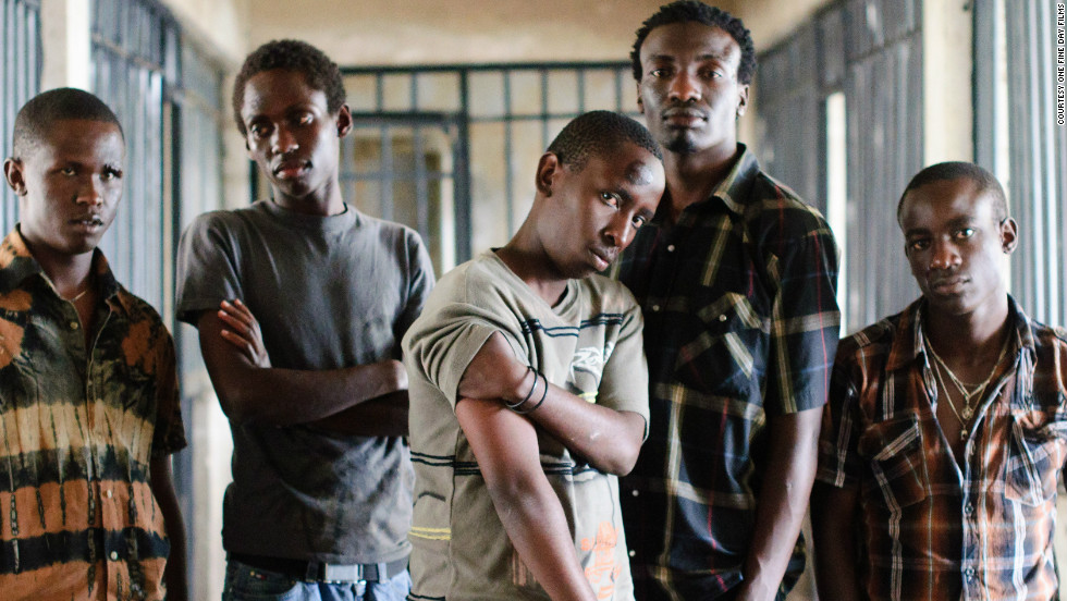 Some of the cast of Nairobi Half Life, Kenya's first-ever film to be considered for an Oscar.