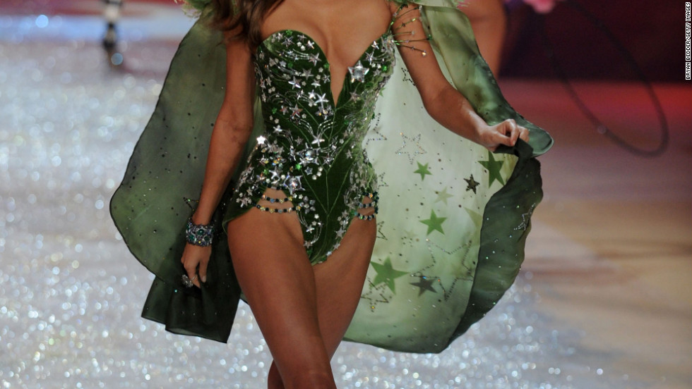 vs fashion show 2012 Miranda Kerr green