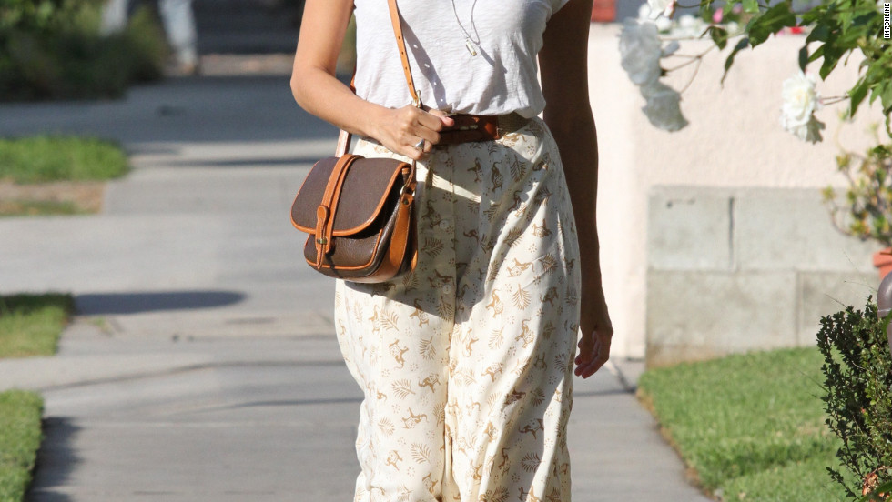 Eva Mendes runs errands in West Hollywood.