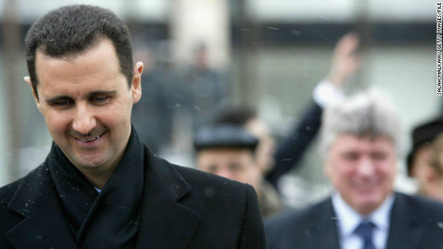 (File photo) yrian President Bashar Assad is seen during a visit to Moscow on January 25, 2005.