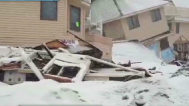 NJ battered by nor'easter after Sandy