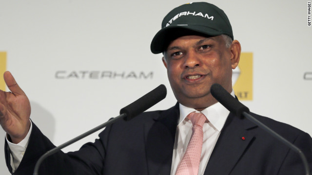 Tony Fernandes founded the British-based Caterham F1 team in 2010.