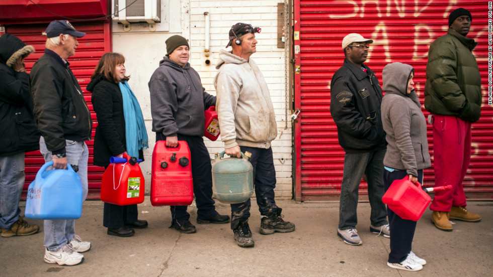 In Manhattan, only about 200 customers now remain in the dark -- a fact that does not escape many Rockaway storm victims as they wait in line for gas.