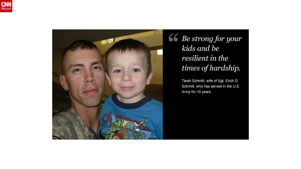 """<a href=""""http://ireport.cnn.com/docs/DOC-878643"""">Read Tarah Schmitt's tribute to her husband on iReport.</a>"""