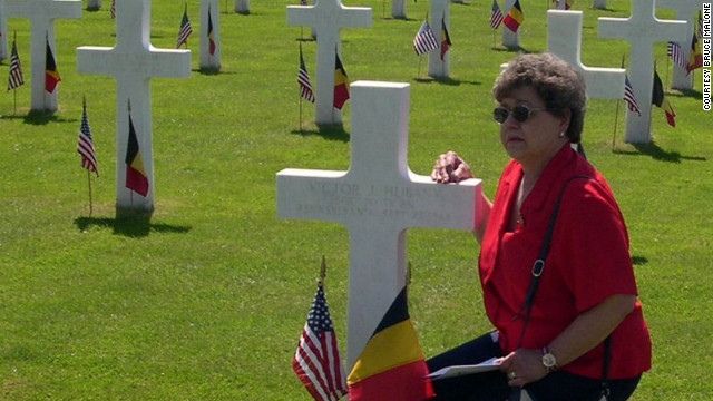 Carol Malone never met her father, but she visited his grave in Belgium's Henri-Chapelle American Cemetery in 2004.