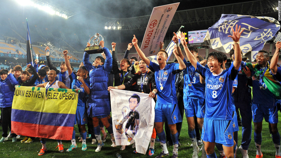 Ulsan Hyundai thrashed Al Ahli 3-0 to become the third South Korean club in four years to be crowned kings of Asia, having reached the final for the first time.