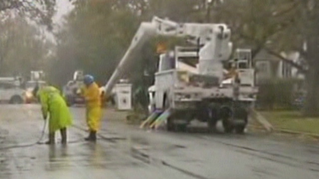 Sandy power outages continue