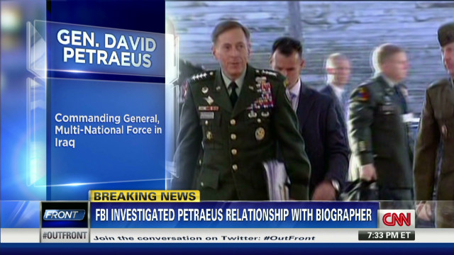 Petraeus out over extramarital affair
