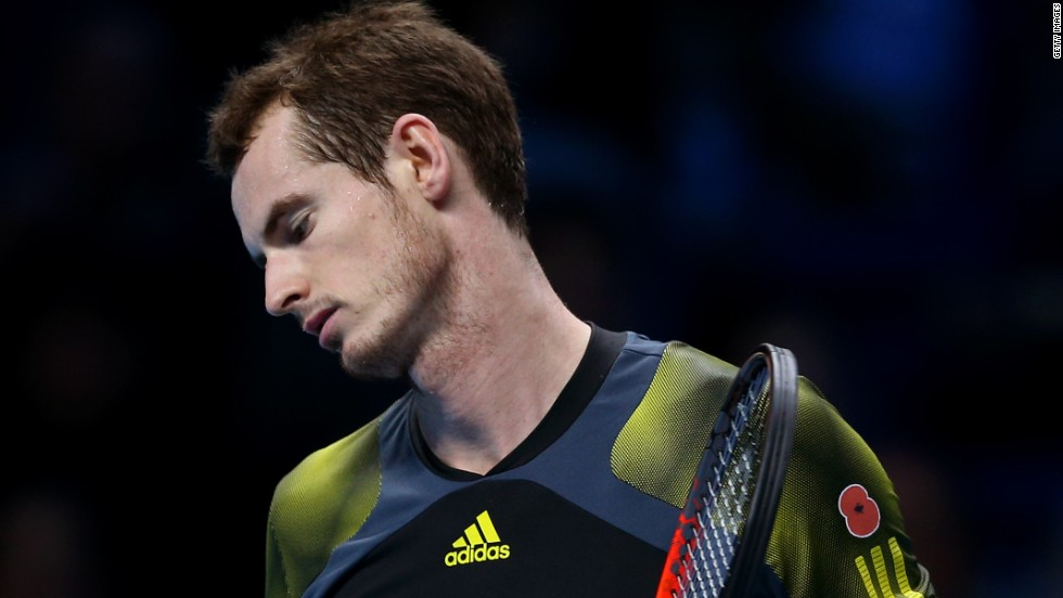 Murray, who won the Olympic gold medal and his first grand slam title this year, has now fallen in the semifinals of the season-ending event three times.
