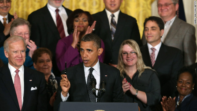 "President Barack Obama speaks to the media about the ""fiscal cliff"" in the East Room of the White House on Friday."