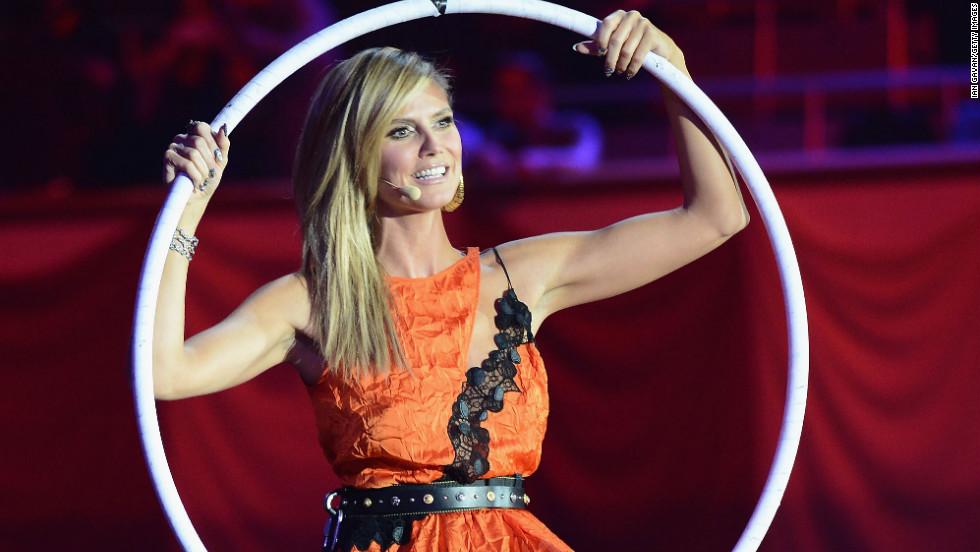 Heidi Klum hosts the 2012 MTV Europe Music Awards.