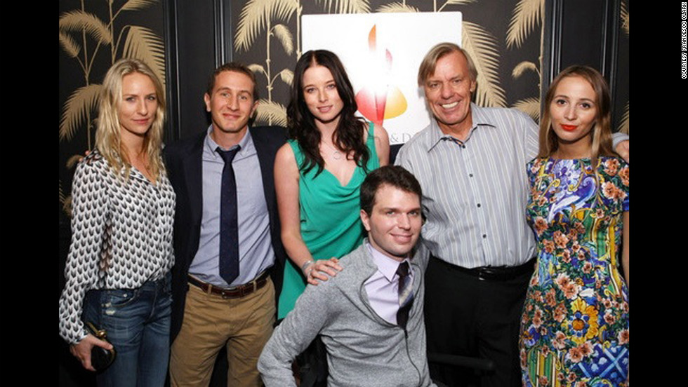 Francesco Clark, front, attends a Christopher and Dana Reeve Foundation event. Clark serves as an ambassador for the foundation, which is dedicated to finding treatments and a cure for spinal cord injuries and improving the quality of life for people with paralysis.