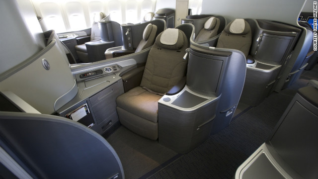 United Airlines' new turn-down service includes a new sleeping cushion for its lie-flat seats.