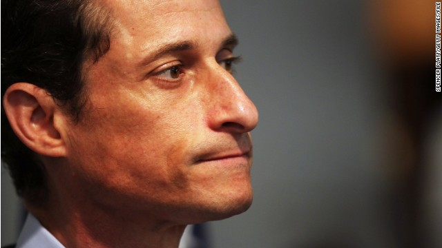 NEW YORK, NY - JUNE 16:  Rep. Anthony Weiner (D-NY) announces his resignation June 16, 2011 in the Brooklyn borough of New York City. The resignation comes 10 days after the congressman admitted to sending lewd photos of himself on Twitter to multiple women.  (Photo by Spencer Platt/Getty Images)
