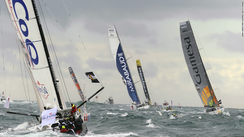 In one of the toughest tests in sport, 20 sailors set off from Les Sables d'Olonne in France as part of the Vendee Globe round the world yacht race.