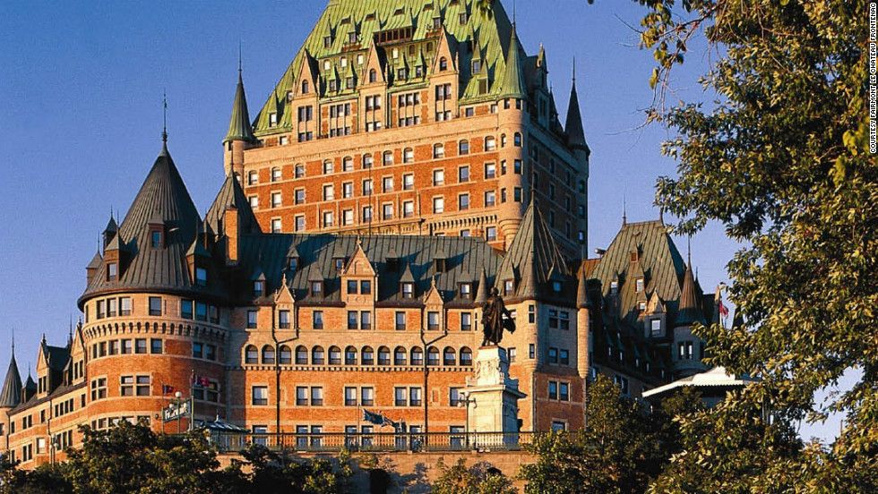 Fairmont Le Chateau Frontenac in Quebec, Canada, is one of Fodor's top global icons, landmark hotels that are part of a destination's fabric.