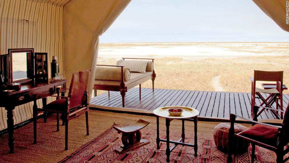 San Camp in Botswana is one of the list's favorite trips of a lifetime properties.