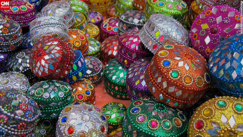 "<a href=""http://ireport.cnn.com/people/MonikaKH"">Monika Khaled</a> captured this image of colorful jewellery boxes in Singapore's Little India district as preparations were being made for this year's Diwali festivities.  For the duration of the celebration, local markets sell all manner of traditional Indian decorations ""such as clay candles, welcome banners and sweet cookies,"" she says."