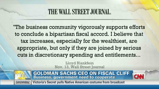 Goldman Sachs CEO on fiscal cliff