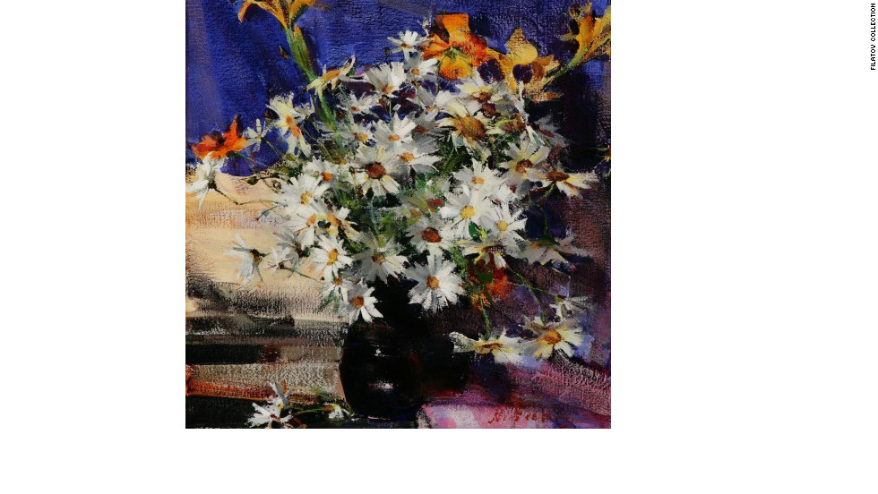 """Daisies,"" by Nicolai Fechin, is one of the pieces Filatov has found for his art fund."