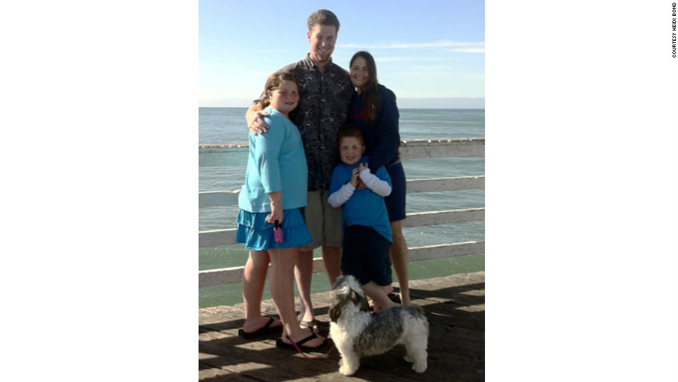 The Bond family, from left: Breanna, Dan, Nathan and Heidi take a photo at Pismo Beach, California.