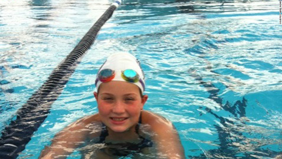 Breanna goes to swim practice, basketball practice, cheer practice and more to stay active after school and on the weekends.