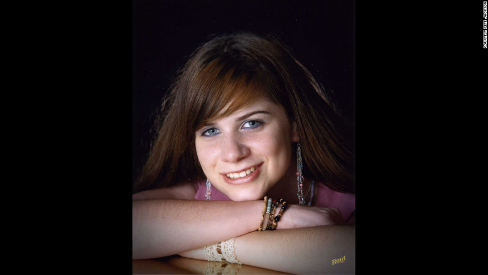 Emily Jackson's high school senior portrait, taken just a few months before she died.
