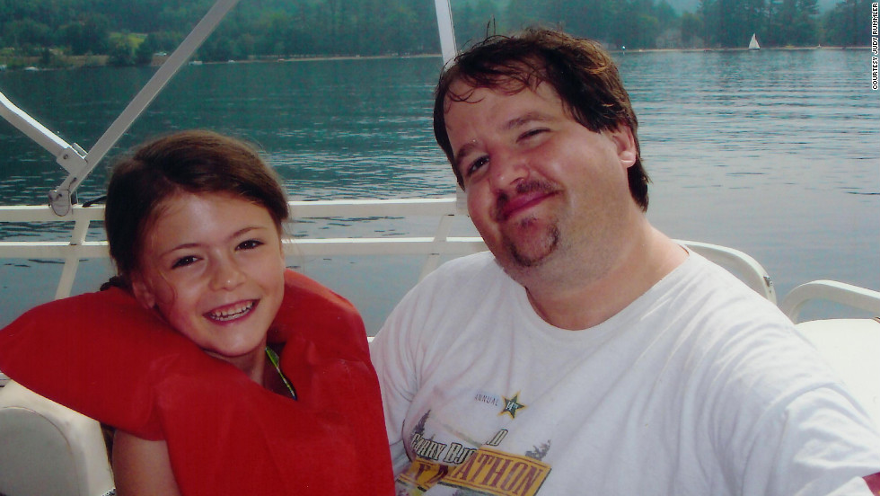 Steve Rummler with his fiance's daughter, Isabella, in the summer of 2010.