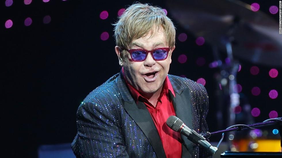 Elton John performs in Sydney, Australia.