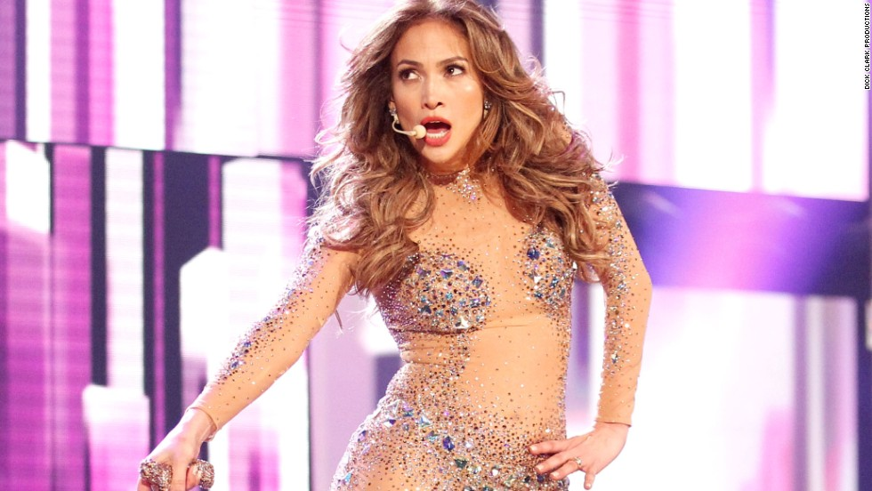 "A scantily clad Jennifer Lopez performed ""On the Floor"" at the 2011 show."