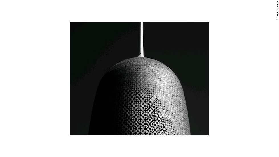 The Doha Tower in Qatar is covered entirely in a latticed screen.