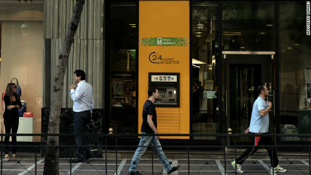 A Piraeus branch in Athens, October 19, 2012. Piraeus head Alex Manos says Greek banks will emerge stronger from the crisis.