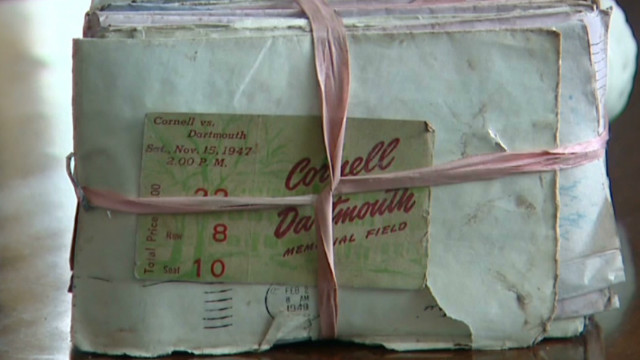Sandy washes up 70-year-old love letters