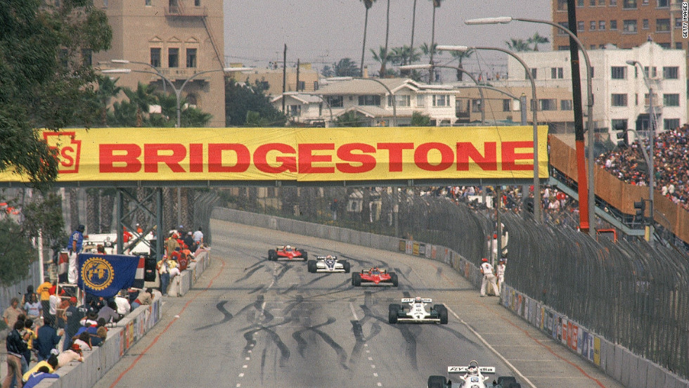 The Long Beach Grand Prix was held in California between 1976 and 1983 after F1's long association with the Watkins Glen circuit in upstate New York. The U.S staged an unprecedented three F1 races in 1982 but it soon became a nomadic event.