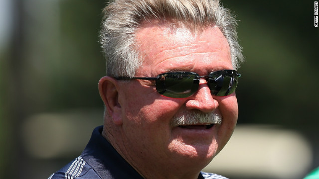 Mike Ditka attends the Packers vs. Bears 'Rivalry Cup' at Medinah Country Club on June 18, 2012 in Medinah, Illinois. (Photo by Jeff Schear/Getty Images for 2012 Ryder Cup)